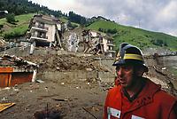 - Valtellina, condominium collapsed in Tartano as  result of the exceptional rains and landslides (July 1987)<br /> <br /> - Valtellina, crollo del condominio di Tartano a seguito delle pioggie eccezionali e delle frane (luglio 1987)