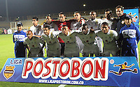 BOGOTA -COLOMBIA. 18-02-2014. Formacion   de La Equidad  contra el Boyaca Chico F.C.  partido por la sexta  fecha de La liga Postobon 1 disputado en el estadio Metropolitano de Techo . /   La Equidad  team  against  Boyaca Chico F.C.  of  Sixth round during the match for the fifth round of The Postobon one league match at the Metropolitano of Techo Stadium . Photo: VizzorImage/ Felipe Caicedo / Staff