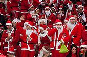 LONDON, ENGLAND - Santacon London 2010, Santas in Trafalgar Square