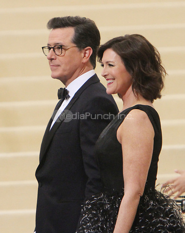 NEW YORK, NY May 01, 2017 Stephen Colbert. Evelyn McGee-Colbert attend  The Metropolitan Museum of Art Costume Institute Benefit Gala for Rei Kawakubo Comme des Garcons at  Metropolitan Museum of Art  in New York May 01,  2017. Credit:RW/MediaPunch