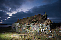 Ruins of derelict croft house, Berneray, Western Isles, Scotland