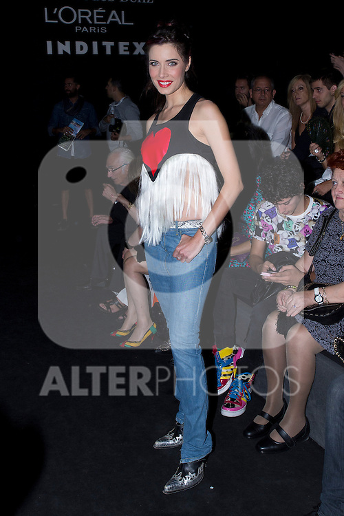 03.09.2012. Celebrities attending the Carlos Diez and Maria Escote fashion show during the Mercedes-Benz Fashion Week Madrid Spring/Summer 2013 at Ifema. In the image Pilar Rubio (Alterphotos/Marta Gonzalez)