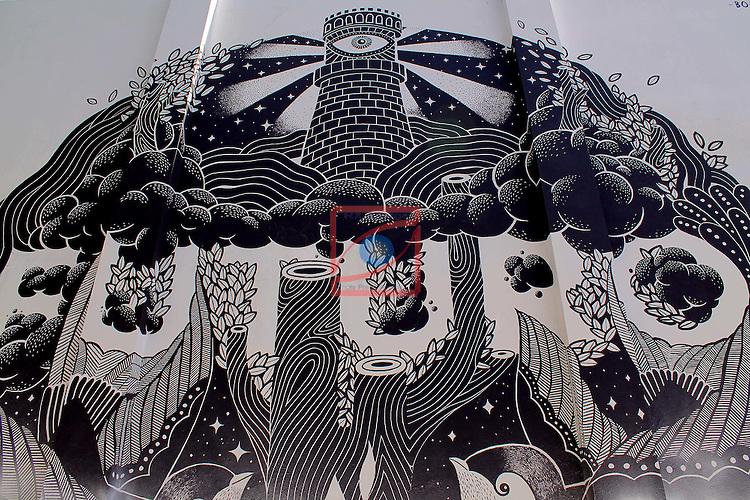Street Art-Graffittis.<br /> Barcelona, carrer Agricultura.