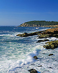 View of the rocky coast of Maine at Acadia National Park, Bar Harbor, Maine