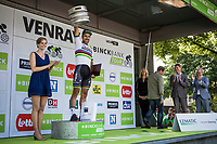 stage winner and 1st overall leader Peter Sagan (SVK/Bora-Hansgrohe) on the podium<br /> <br /> Binckbank Tour 2017 (UCI World Tour)<br /> Stage 1: Breda (NL) &gt; Venray (NL) 169,8km
