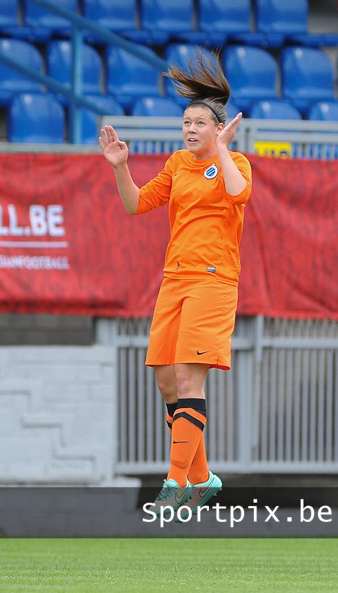 Bekerfinale vrouwen 2015 : Lierse-Club Brugge Vrouwen :<br /> <br /> Frauke Timmerman<br /> <br /> foto VDB / BART VANDENBROUCKE