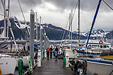 USA, Alaska, Seward, a view of the Seward harbor and marina