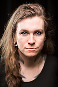 Durham, North Carolina - Sunday May 15, 2016 - Laura Jane Grace, of the band Against Me! has transitioned to living as a woman. Against Me! kept their scheduled May 15 date to perform at Motorco, in Durham, using the show as a platform to protest North Carolina House Bill 2.