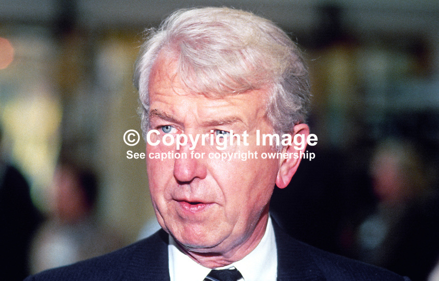 Peter Walker, MP, Conservative Party, Secretary of State for Wales, UK, 19871010PW2.<br />