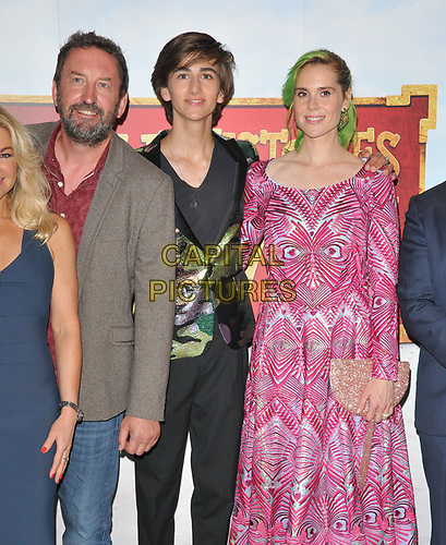 """Lee Mack, Sebastian Croft and Kate Nash at the """"Horrible Histories: The Movie - Rotten Romans"""" world film premiere, Odeon Luxe Leicester Square, Leicester Square, London, England, UK, on Sunday 07th July 2019.<br /> CAP/CAN<br /> ©CAN/Capital Pictures"""