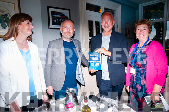 "Wtiters Week : Anthony Horowitz author of the James Bond novel ""Trigger Mortis""  and ""Forever an A Day""pictured at the Listowel Arms Hotel with Rachel Englist, RTE's Rick O'Shea & Liz Dunn, Chairperson Listowel Writers Week on Saturday night last."