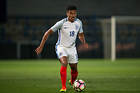 James Justin (Luton Town) of England U20 during the International friendly match between England U20 and Netherlands U20 at New Bucks Head, Telford, England on 31 August 2017. Photo by Andy Rowland.