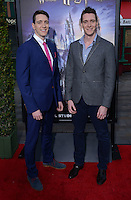 Oliver Phelps + James Phelps @ the VIP opening for The Wizarding World of Harry Potter held @ the Universal Studiio Hollywood.<br /> April 5, 2016