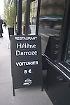 Sign, Exterior, Helen Daroze Restaurant, Paris, France, Europe