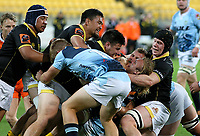 Action from the Mitre 10 Cup rugby match between Wellington Lions and Northland Taniwha at Westpac Stadium in Wellington, New Zealand on Thursday, 12 October 2017. Photo: Mike Moran / lintottphoto.co.nz