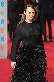 London, UK. 14 February 2016. Laura Haddock. Red carpet arrivals for the 69th EE British Academy Film Awards, BAFTAs, at the Royal Opera House. © Vibrant Pictures/Alamy Live News