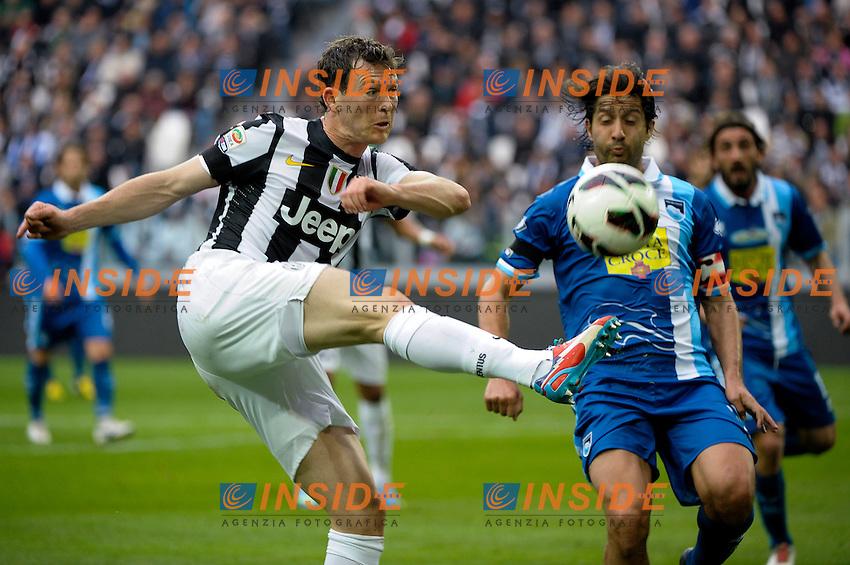 Stephan Lichtsteiner Juventus.Torino 6/04/2013 Juventus Stadium.Football Calcio Serie A  2012/13. Juventus vs Pescara.Foto Insidefoto Federico Tardito