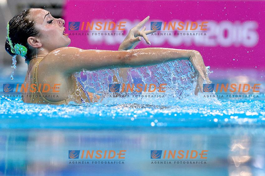 VOLOSHYNA Anna UKR Ukraine <br /> Solo Free<br /> London, Queen Elizabeth II Olympic Park Pool <br /> LEN 2016 European Aquatics Elite Championships <br /> Synchronized Swimming  <br /> Day 01 09-05-2016<br /> Photo Andrea Staccioli/Deepbluemedia/Insidefoto