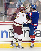 Steven Whitney (BC - 21), Jason DeLuca (Lowell - 9) - The Boston College Eagles defeated the visiting University of Massachusetts-Lowell River Hawks 5-3 (EN) on Saturday, January 22, 2011, at Conte Forum in Chestnut Hill, Massachusetts.