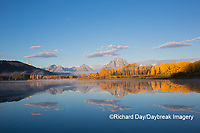 67545-09308 Sunrise at Oxbow Bend in fall; Grand Teton National Park; WY
