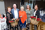 At the Recovery Haven 'Valentines With A Difference' in the rose Hotel on Tuesday were Philomena Stack (Recovery Haven) , Ger O'Sullivan, Mary O'Sullivan, Christine McAuliffe and Madeleine Doyle, conference and banqueting manager Rose Hotel