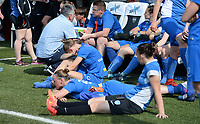 20180526 - Eupen , BELGIUM : Genk's players looks dejected after  the final of Belgian cup 2018 , a soccer women game between KRC Genk Ladies and Standard Femina de Liege  , in the  Kehrweg stadion in Eupen , saturday 26 th May 2018 . PHOTO SPORTPIX.BE | DAVID CATRY