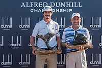 Pedro Figueiredo (POR) and Hennie Otto (RSA) after the Alfred Dunhill Par 3 ahead of the Alfred Dunhill Championship, Leopard Creek Golf Club, Malelane, South Africa. 12/12/2018<br /> Picture: Golffile | Tyrone Winfield<br /> <br /> <br /> All photo usage must carry mandatory copyright credit (© Golffile | Tyrone Winfield)