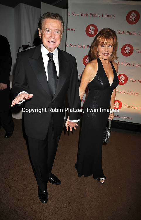 Regis Philbin and wife Joy Philbin..arriving at The New York Public Library 2008 Library Lions Benefit Gala on November 3, 2008 at The New York Public Library at 42nd Street and 5th Avenue.....Robin Platzer, Twin Images