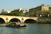 """Jeanne d'Arc or """"Joan of Arc"""" was burned at the stake in 1431 and it is said that her ashes were thrown into the Seine. The average depth of the Seine today at Paris is about nine and a half meters. Until locks were installed to artificially raise the level in the 1800s the river was much shallower within the city most of the time, and consisted only of a small channel of continuous flow bordered by sandy banks"""