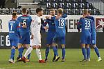 Jubel beim 1. FC Heidenheim  beim Spiel in der 2. Bundesliga, SV Sandhausen - 1. FC Heidenheim 1846.<br /> <br /> Foto © PIX-Sportfotos *** Foto ist honorarpflichtig! *** Auf Anfrage in hoeherer Qualitaet/Aufloesung. Belegexemplar erbeten. Veroeffentlichung ausschliesslich fuer journalistisch-publizistische Zwecke. For editorial use only. For editorial use only. DFL regulations prohibit any use of photographs as image sequences and/or quasi-video.
