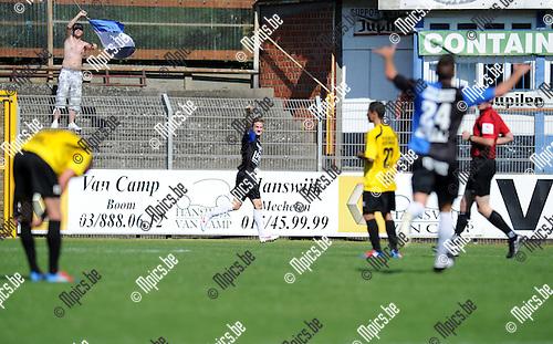 2012-08-12 / Voetbal / seizoen 2012-2013 / Rupel-Boom - Ganshoren / Jeroen Mertens viert de 1-0..Foto: Mpics.be