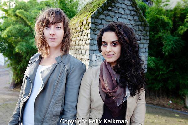 Utrecht, 12 september 2011.Nederlands Film Festival NFF 2011.Anne Seghers (links) en Zineb Seghrouchni.Studio Papaver.Foto Felix Kalkman