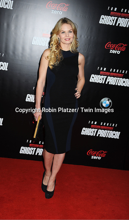 """Jennifer Morrison attends The US Premiere of """" Mission:Impossible - Ghost Protocol """" on December 19, 2011 at the Ziegfeld Theatre. .the movie stars Tom Cruise, Paula Patton, Jeremy Renner, Simon Pegg, Josh Holloway, Michael Nyqvist and Anil Kapoor."""