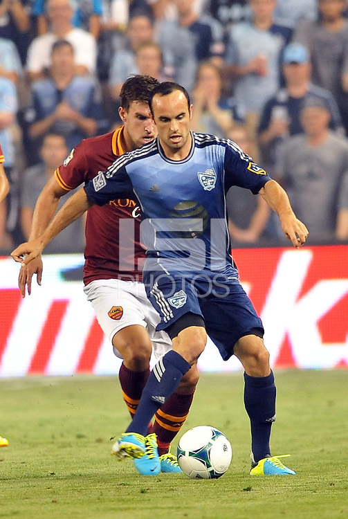 Sporting Park, Kansas City, Kansas, July 31 2013:<br /> Landon Donovan (7) forward MLS All-Stars in action.<br /> MLS All-Stars were defeated 3-1 by AS Roma at Sporting Park, Kansas City, KS in the 2013 AT & T All-Star game.