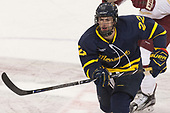 Mathieu Tibbet (Merrimack - 22) - The visiting Merrimack College Warriors defeated the Boston College Eagles 6 - 3 (EN) on Friday, February 10, 2017, at Kelley Rink in Conte Forum in Chestnut Hill, Massachusetts.