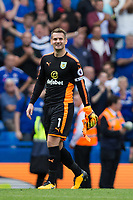 Burnley's Thomas Heaton celebrates at full time<br /> <br /> Photographer Craig Mercer/CameraSport<br /> <br /> The Premier League - Chelsea v Burnley - Saturday August 12th 2017 - Stamford Bridge - London<br /> <br /> World Copyright &copy; 2017 CameraSport. All rights reserved. 43 Linden Ave. Countesthorpe. Leicester. England. LE8 5PG - Tel: +44 (0) 116 277 4147 - admin@camerasport.com - www.camerasport.com