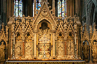 Reredos of the Communion Alter designed by George Gilbert Scott Scott and carved by John Birnie Philip in 1864