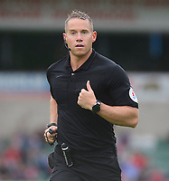 Referee Stephen Martin<br /> <br /> Photographer Chris Vaughan/CameraSport<br /> <br /> The EFL Sky Bet League One - Lincoln City v Fleetwood Town - Saturday 31st August 2019 - Sincil Bank - Lincoln<br /> <br /> World Copyright © 2019 CameraSport. All rights reserved. 43 Linden Ave. Countesthorpe. Leicester. England. LE8 5PG - Tel: +44 (0) 116 277 4147 - admin@camerasport.com - www.camerasport.com