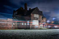 Long exposure shot of the abandoned 'Green End' Public House.