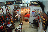 The basement shrine of 18 King's Temple in Taipei, Taiwan..26 May 2005