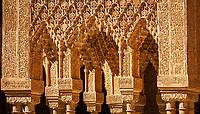 Spanien, Andalusien, Granada: Alhambra, Patio de los Leones, Details | Spain, Andalusia, Granada: Alhambra, Patio de los Leones, Details