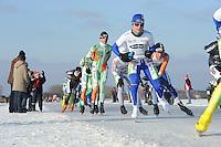 SCHAATSEN: EMMEN: Grote Rietplas, KPN NK Marathon Natuurijs, 08-02-2012, Douwe de Vries, ©foto: Martin de Jong