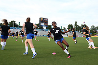 Cary, North Carolina  - Saturday June 17, 2017: Ifeoma Onumonu prior to a regular season National Women's Soccer League (NWSL) match between the North Carolina Courage and the Boston Breakers at Sahlen's Stadium at WakeMed Soccer Park. The Courage won the game 3-1.