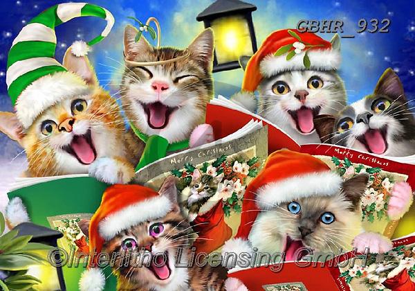 Howard, CHRISTMAS ANIMALS, WEIHNACHTEN TIERE, NAVIDAD ANIMALES, paintings+++++,GBHR932,#xa# ,selfies