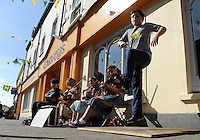 Busking at Dingle Tradfest at the weekend were Daniel Twomey, Marie O'Neill, Leah Murphy, Anna Buckley and Cian Broderick.<br /> Picture by Don MacMonagle<br /> <br /> Repro free