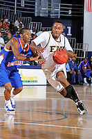 12 November 2010:  FIU's Stephon Weaver (2) drives to the basket in the second half as the FIU Golden Panthers defeated the Florida Memorial Lions, 89-73, at the U.S. Century Bank Arena in Miami, Florida.