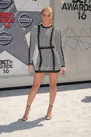LOS ANGELES, CA - JUNE 26: Jasmine Sanders at the 2016 BET Awards at the Microsoft Theater on June 26, 2016 in Los Angeles, California. Credit: David Edwards/MediaPunch