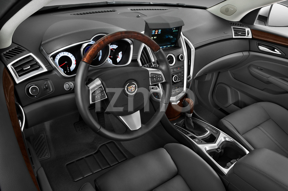 High angle dashboard view of a 2010 Cadillac SRX Performance