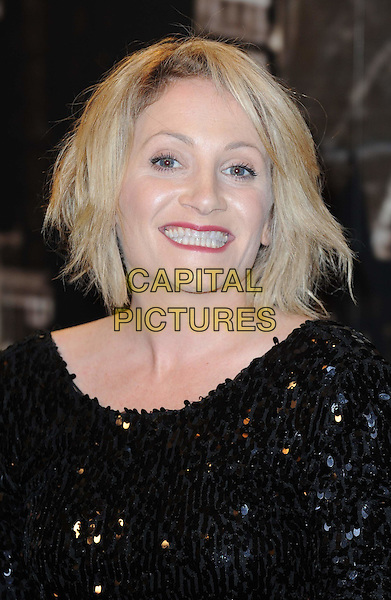 LUCY SPEED.At the Specsavers Crime Thriller Awards 2010, Grosvenor House Hotel, Park Lane, London, England, UK..8th October 2010.headshot portrait black sequined sequin smiling .CAP/WIZ.© Wizard/Capital Pictures.