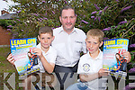 Eric Donovan pictured with sons John and Owen is organising a series of CPR classes in Castlegregory in the coming weeks.